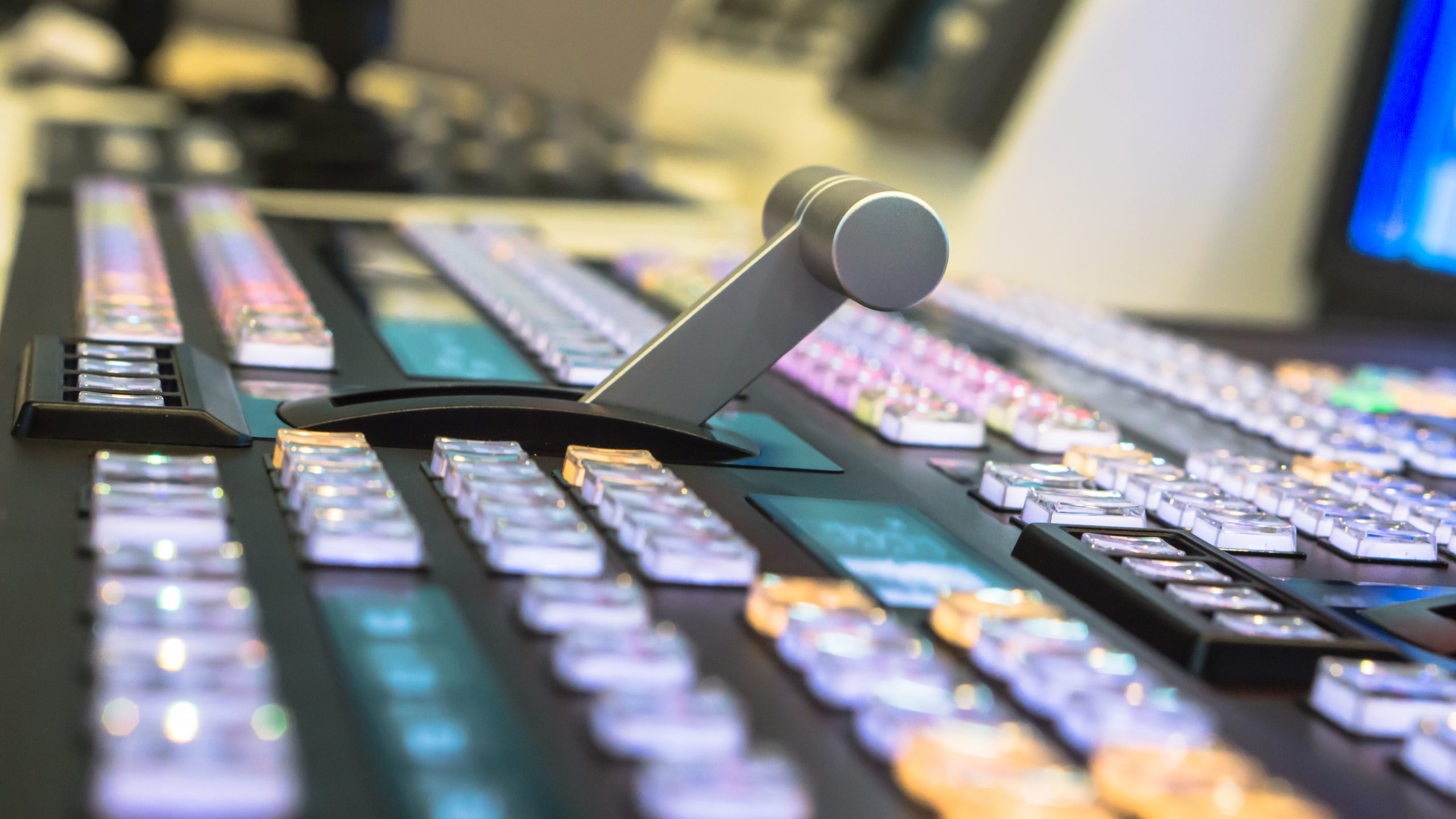 TV broadcasting, Video switch of Television Broadcast, working with video and audio mixer, control broadcasts in recording studio.